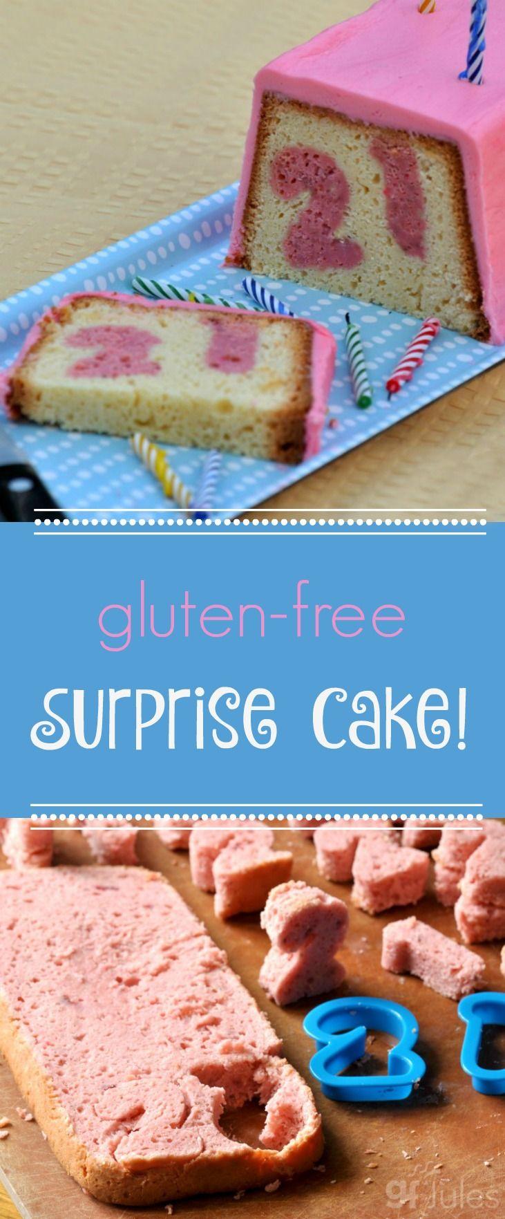 Gluten free surprise cake moist airy like a cake should