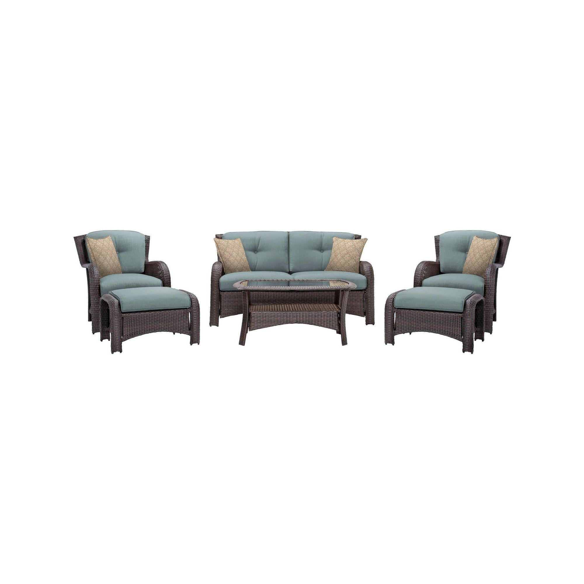 Pc patio seating set hanover blue products