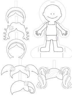 Cute free paper doll templates to print and color they 39 ll keep your child busy for hours and for Large paper doll template