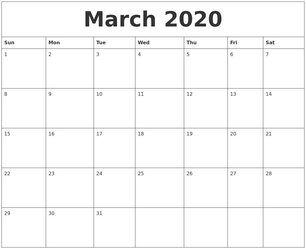 Printable By Month In 2020 Blank Calendar Template Calendar