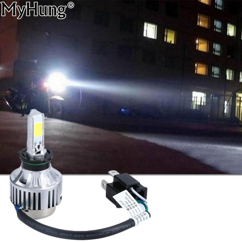 30w 3000lm Motorcycle H4 Hi Lo Led Headlight For Honda Cafe Racer Hs1 H6 6500k 12v Motorbike Scooter Headlamp Car Sty Car Lights Led Headlights Headlight Bulbs