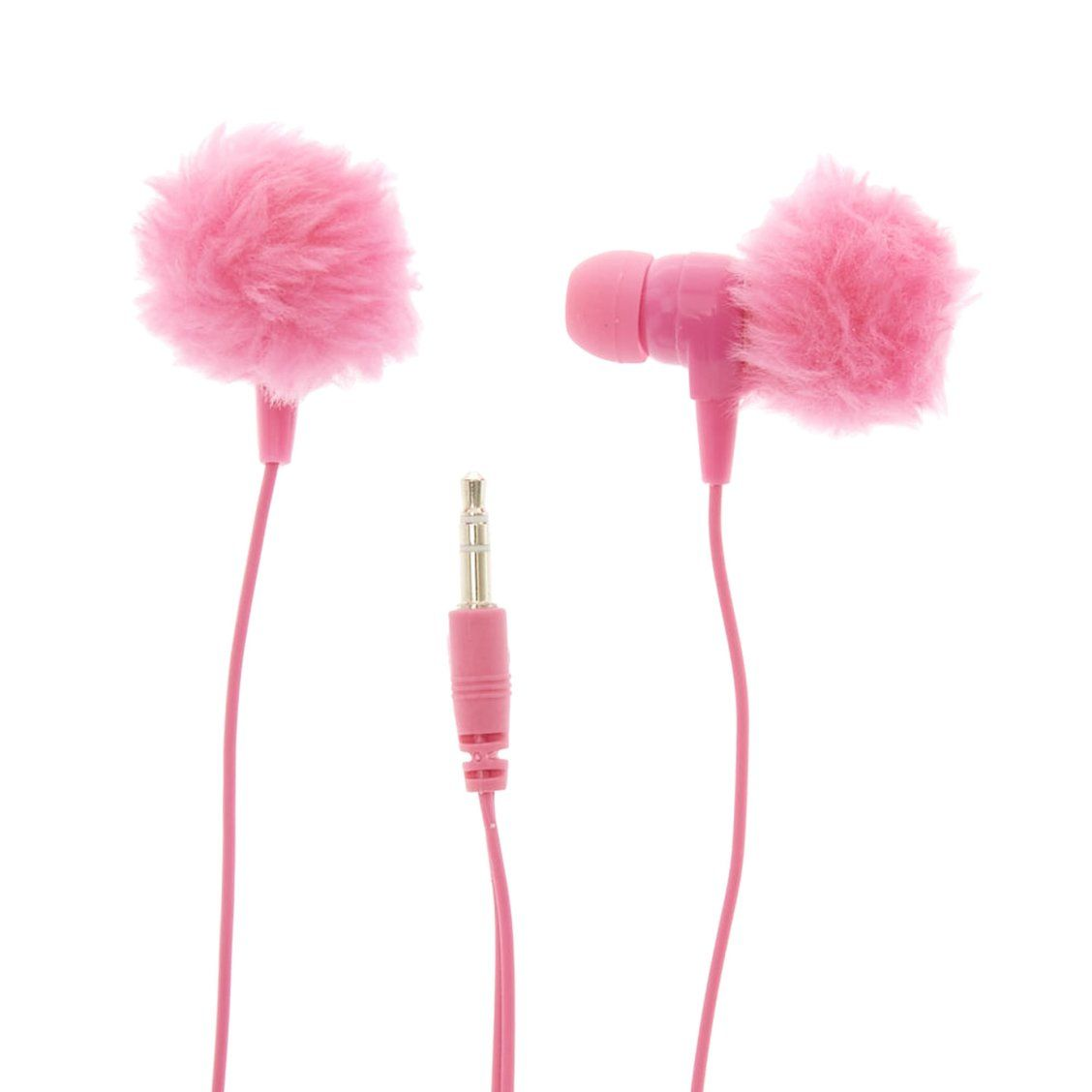 Pink Pom Pom Earbud Headphones Wired Headphones Feature Pink Pom Pom Earbuds Perfect For Adding A Acessorios Para Celular Fones De Ouvido Acessorios Vintage