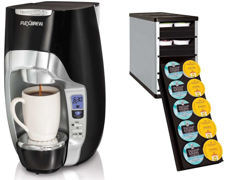 Hamilton Beach 49996 Flexbrew Coffeemaker Youcopia Coffeestack 40k