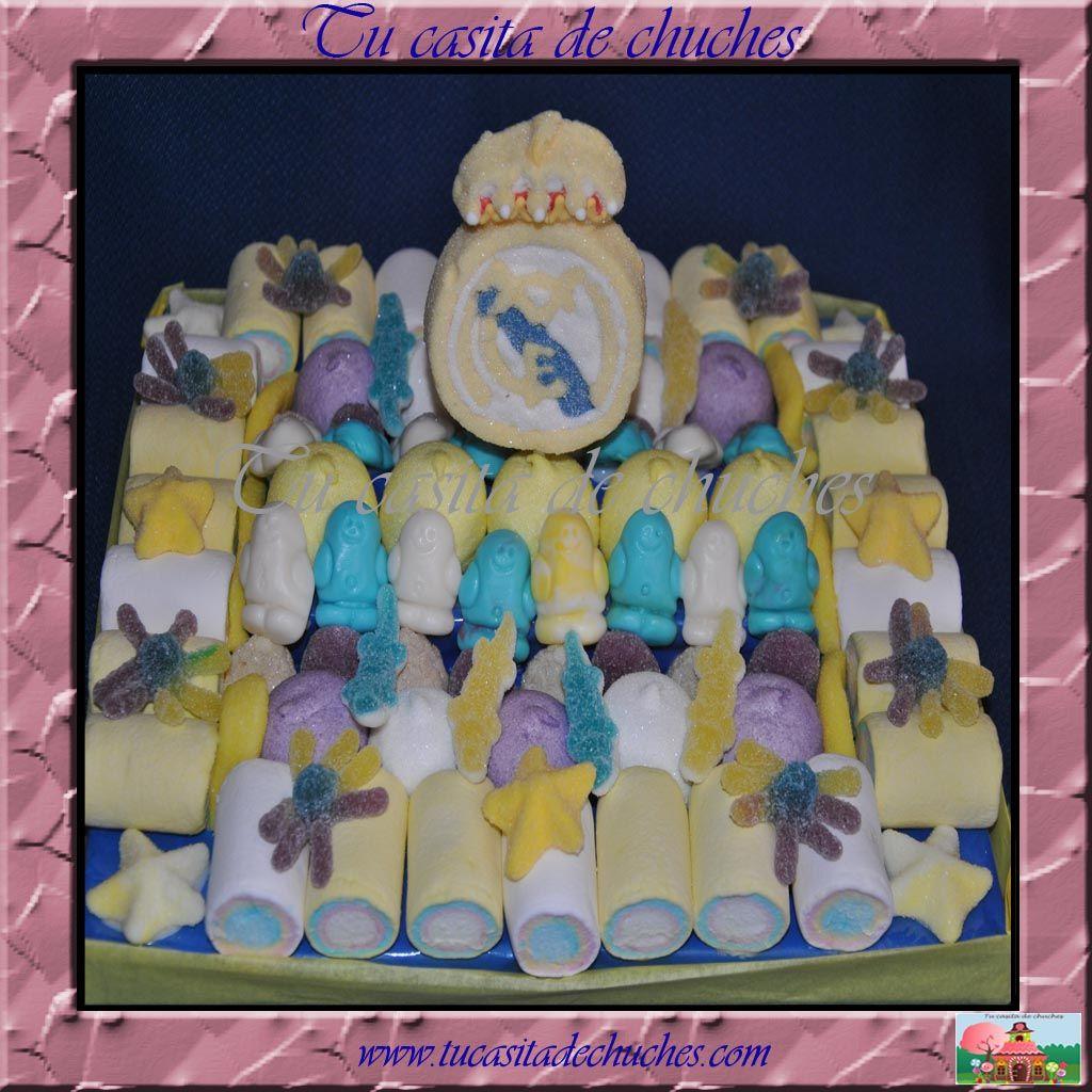 Tarta tradicional Real Madrid con piruleta