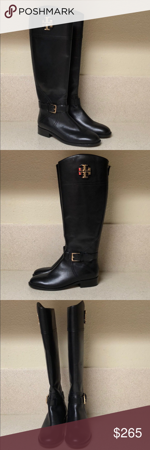 cb7aff28c43 Tory Burch Adeline Tall Riding Boot Black Sz 5.5 Tory Burch Adeline Riding  Boot Black.