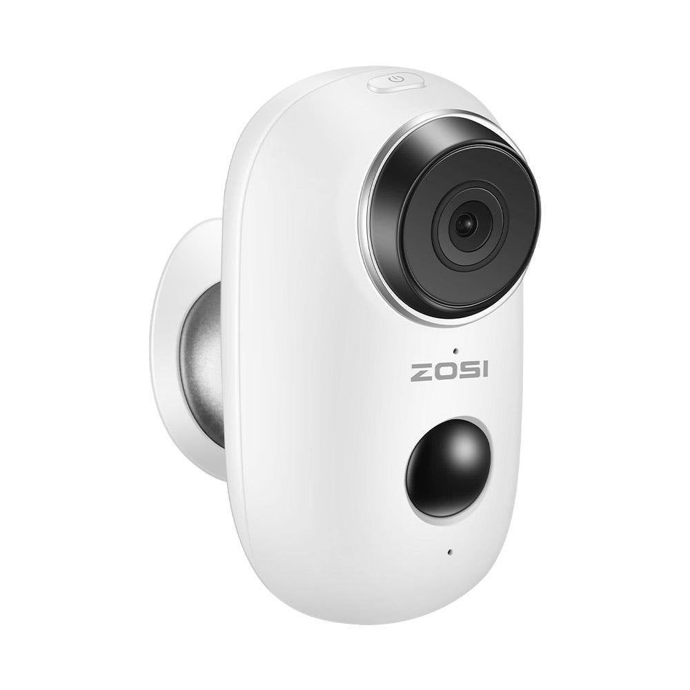 Camera Ip Interieure Exterieure De Surveillance Zosi Connectee Sans Fil Blanc Camera De Securite Interieur Et Exterieur Et Camera