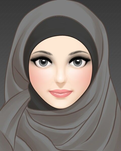 Pin Oleh Nina Minette Di Muslim Fashion Kartun Hijab Gambar Sketsa
