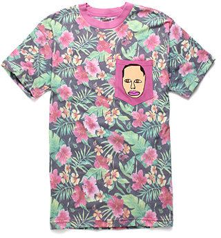 684694165753 PacSun ODD FUTURE Earl Pocket Tee on shopstyle.com. Pink floral print.