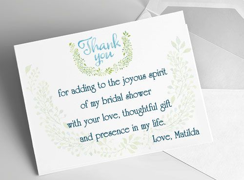 Bridal Shower Thank You Cards Sample Wording Tips And
