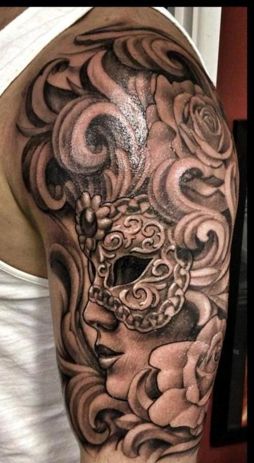 I love that this is black and grey scale. I love the detail and depth-- The moment I get my first tattoo, I know I'll be addicted and going back for more. I'm thinking a full sleeve and full back piece is in my future. Fuck the haters. Judge me.