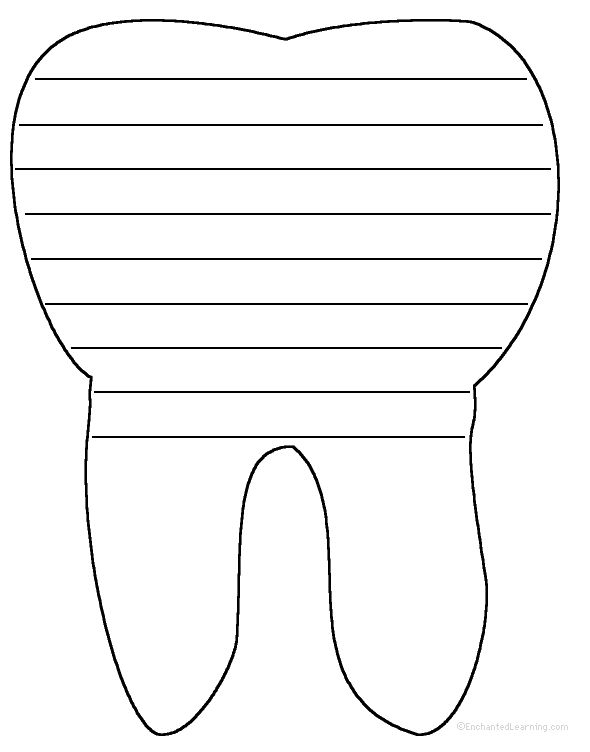 tooth writing sheet | Write a poem inside the tooth. Or go ...