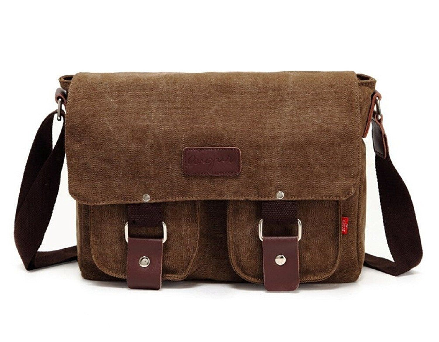 fc4d7361b0 Tiny Chou Vintage Canvas Messenger Bag Casual Shoulder Bag Business Bag for  Men   Check out this great product.