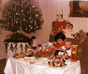 weihnachten 1966 mit der kleinen schwester 50er und 60er. Black Bedroom Furniture Sets. Home Design Ideas