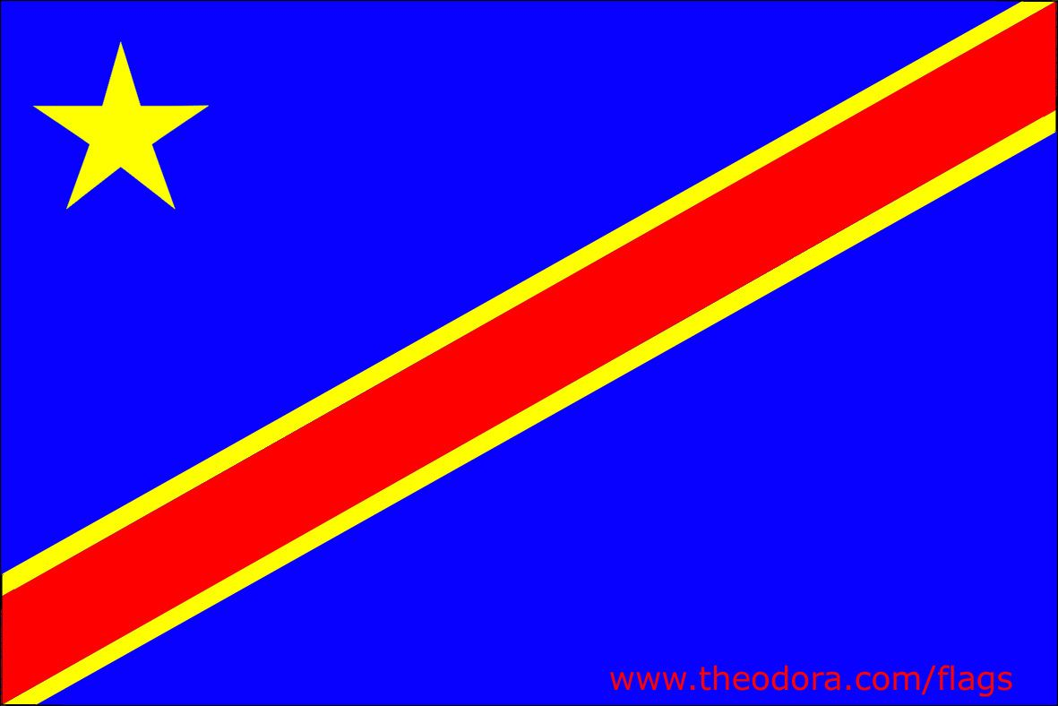 Flag Of Congo Democratic Republic Republique Democratique Du Congo