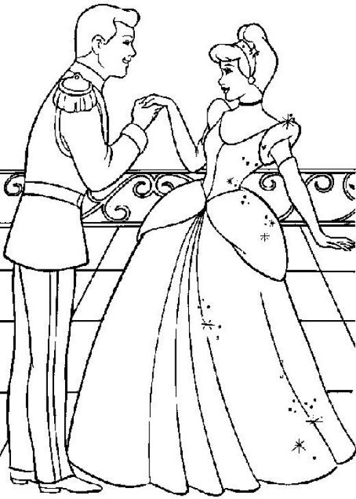 Free Printable Cinderella Coloring Pages For Kids Cinderella Coloring Pages Princess Coloring Pages Disney Coloring Pages
