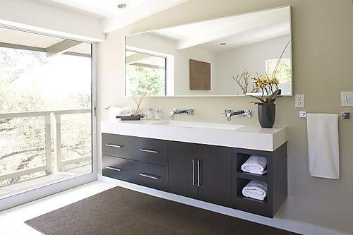 troth sink instead of double vanity Interior Remodeling
