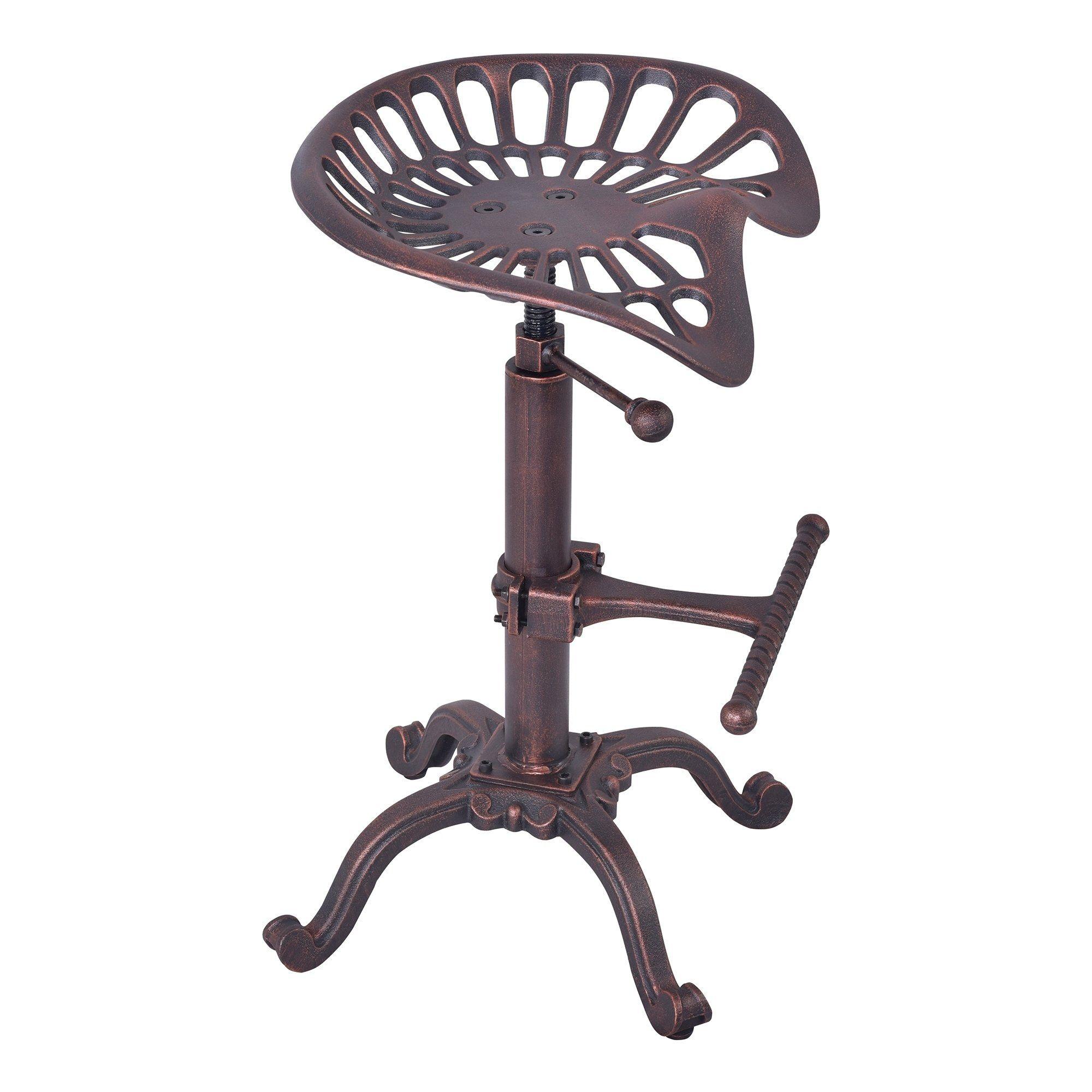 Incredible Armen Living Jax Industrial Adjustable Tractor Barstool In Ibusinesslaw Wood Chair Design Ideas Ibusinesslaworg
