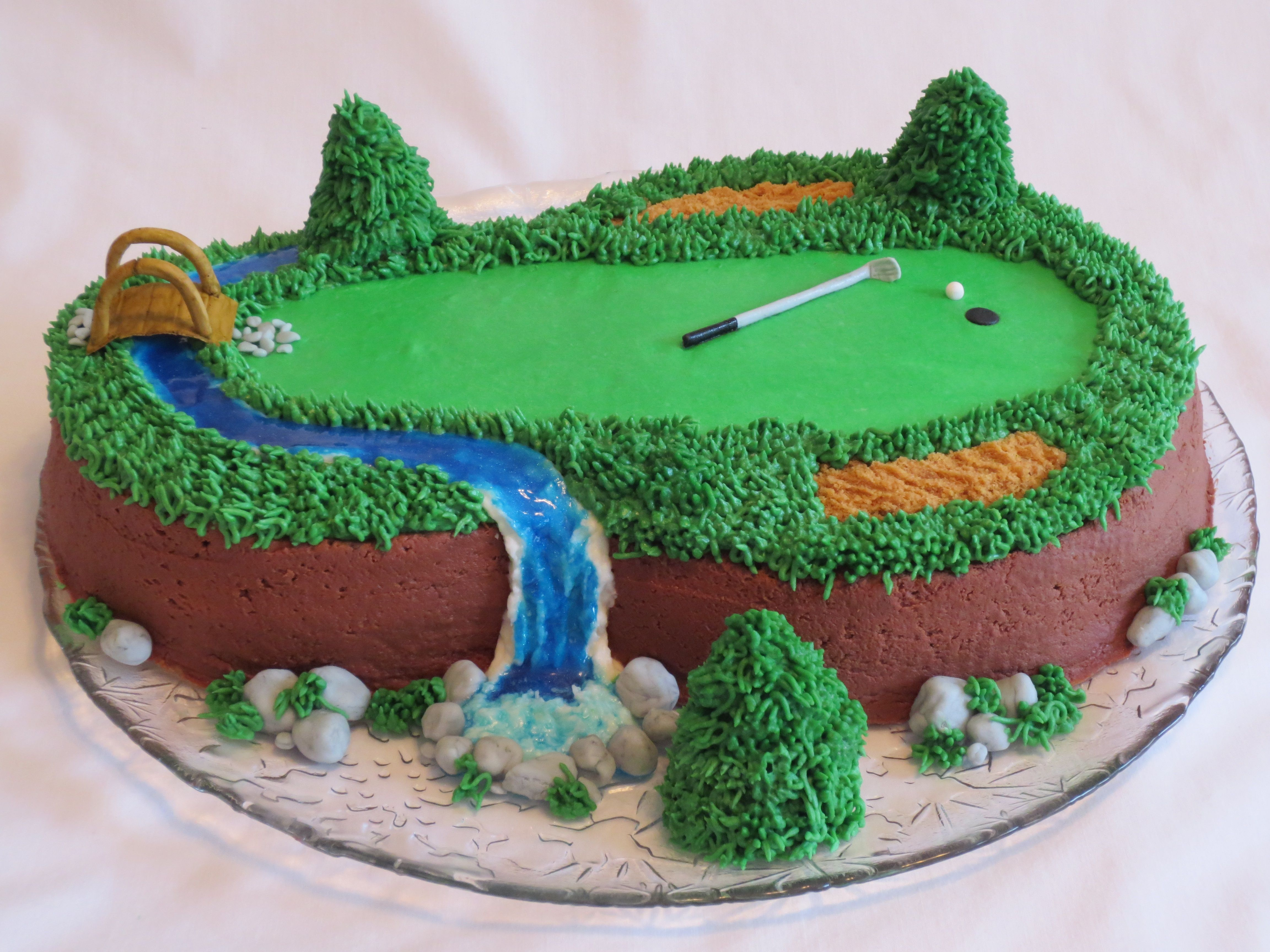 Golf Shout Out To Jessmar For The Idea Thanks I Wanted Make A Themed Cake My Husband S Birthday It Vanilla Gluten Free With
