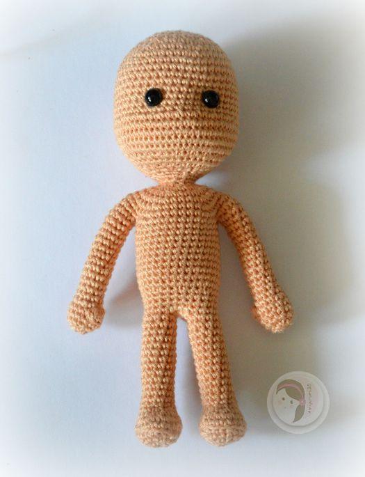 Muñeca en una pieza, tejida a crochet, paso a paso, gratis ...