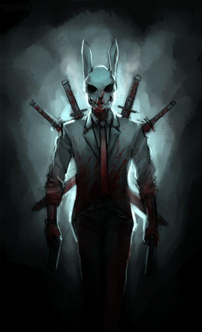 creepy art | Creepy Rabbit Assassin by ~TheBoyofCheese on deviantART