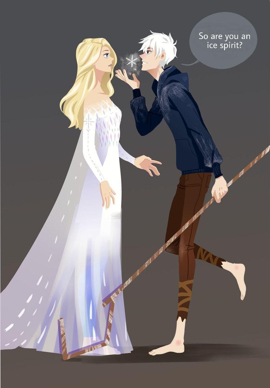 Jelsa   Elsa and Jack Frost Fan Art   Frozen 5/Rotg by    Jelsa ...