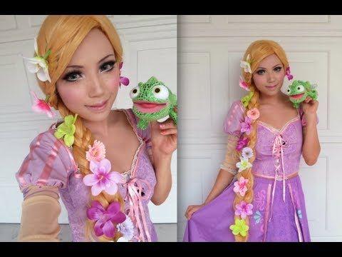 Disney S Tangled Rapunzel Make Up Tutorial Rapunzel Makeup Disney Princess Makeup Princess Makeup