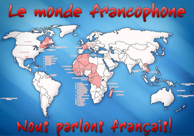 Map Of France For Ks2.Map Of French Speaking Countries Around The World Google Search