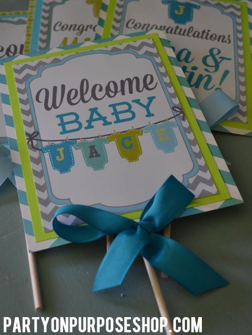 It's a Boy Baby Shower  Large Centerpiece by PartyOnPurposeShop, $48.00