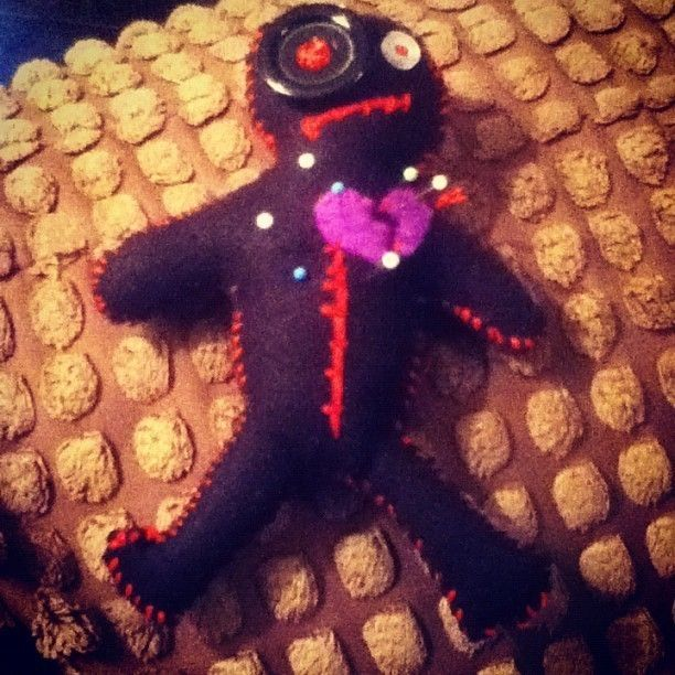 voodoo doll pin cushion, cute gift for a sewer