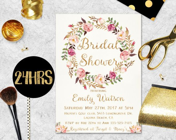Bridal Shower Invitation Floral bridal invite Printable Bridal Shower Boho Invitation Instant Digital Download Bridal Brunch Invitation diy #promo