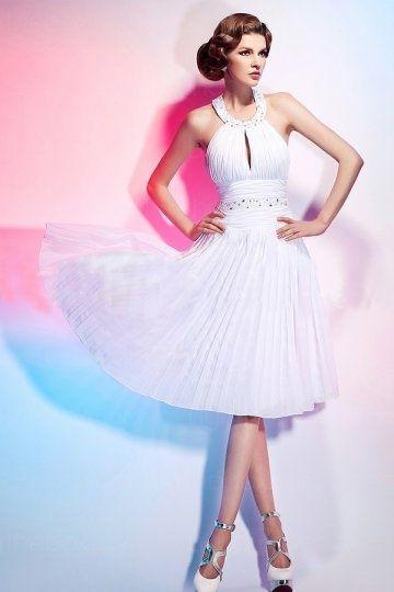 Robe blanche style marilyn monroe