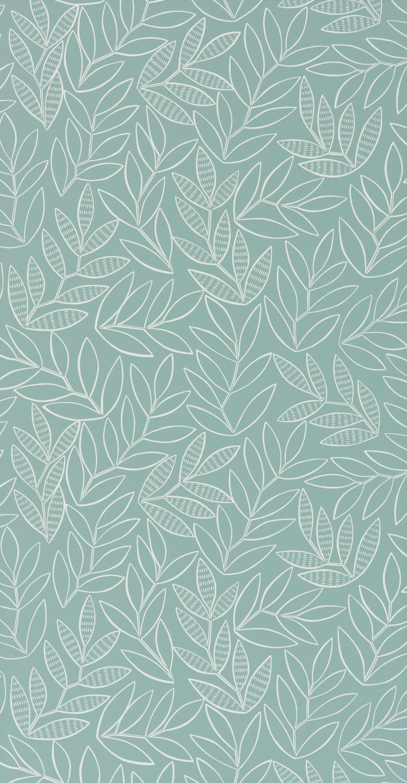 Missprint Laurus Broadleaf Wallpaper Pretty Wallpapers Pattern Wallpaper Blue Wallpapers