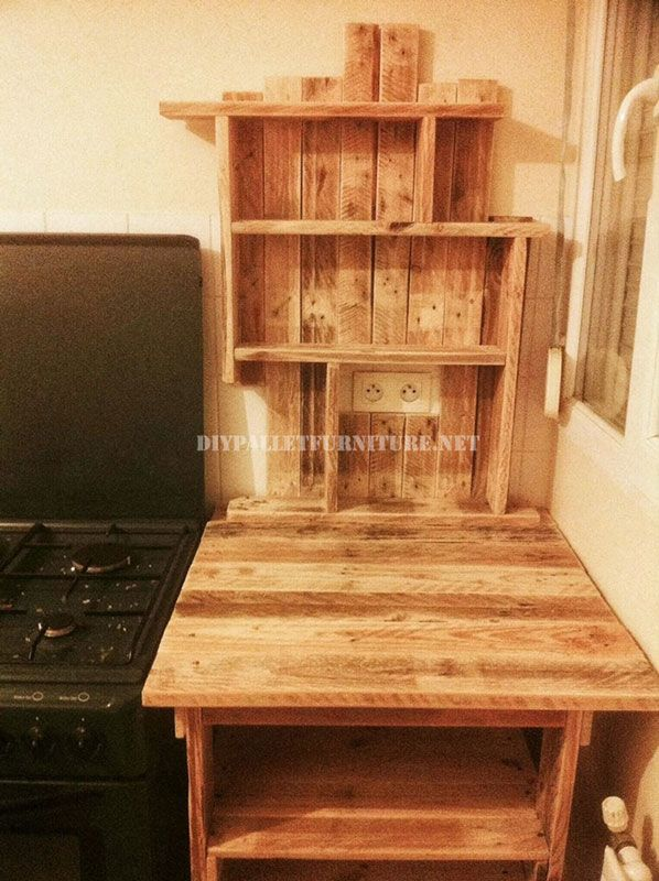 Mueblesdepalets.net: mueble auxiliar para la cocina de palets ...