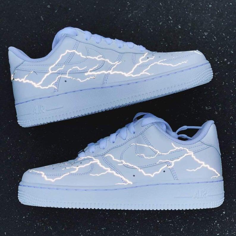 Reflective Lightning Nike Air Force 1 Custom Air Force