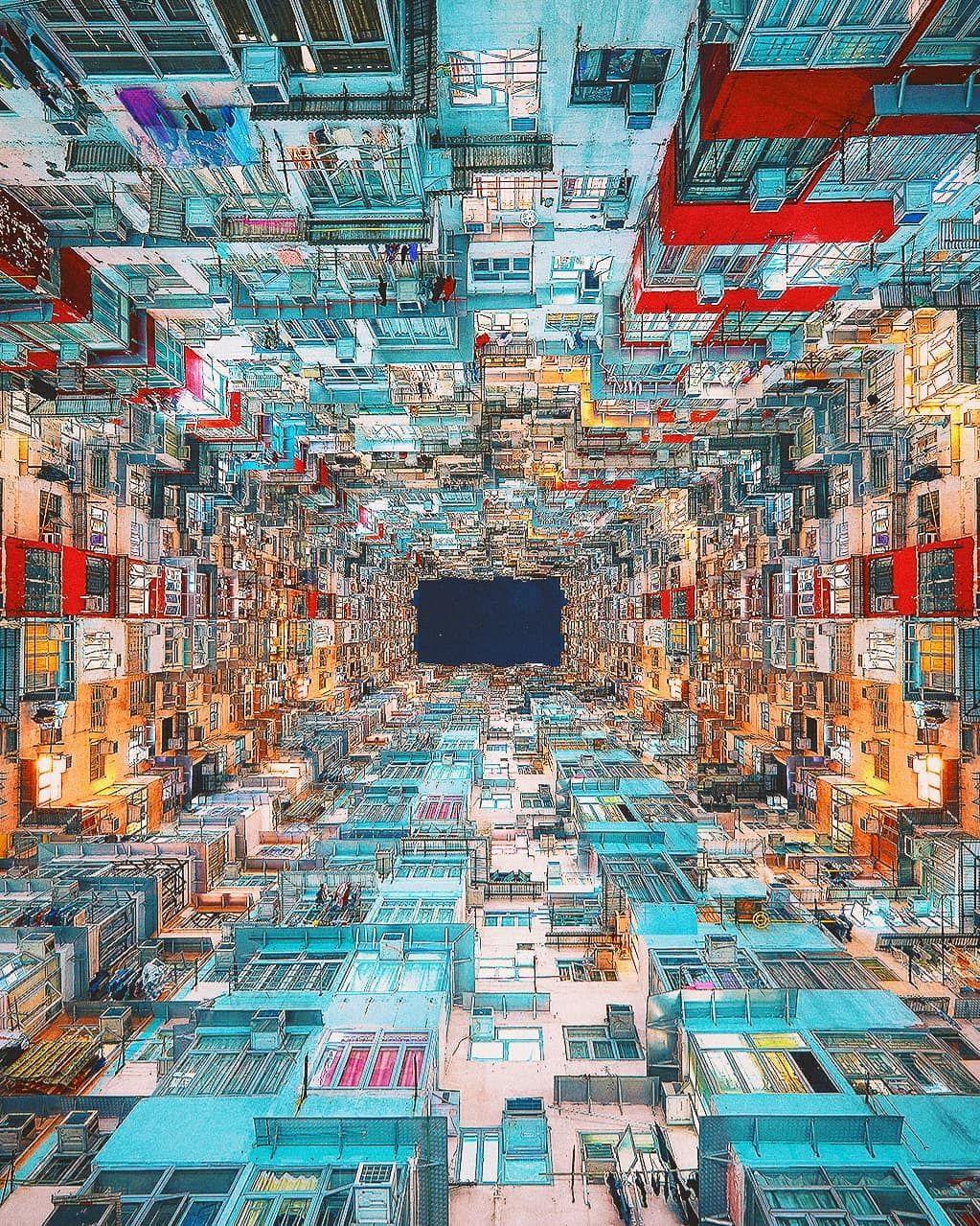 Hongkong Artistic Wallpaper City Drawing Futuristic City
