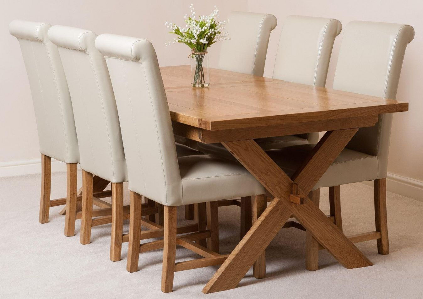 99 Oak Dining Table And Chairs For Sale Modern Classic
