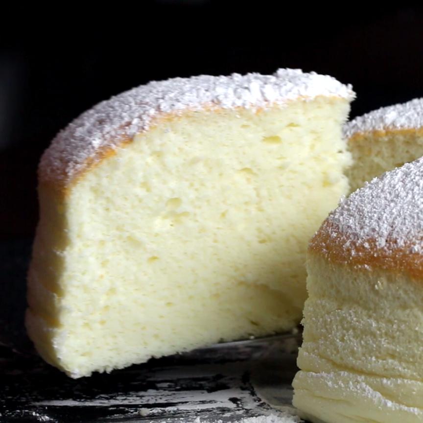 Fluffy Jiggly Japanese Cheesecake Opskrift Dessert Pinterest