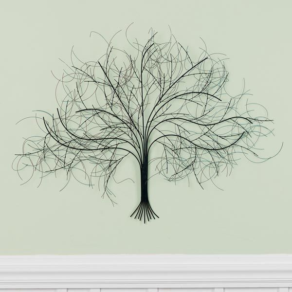 Wire Wall Decor black tree wall art handcrafted in india from metal with wire