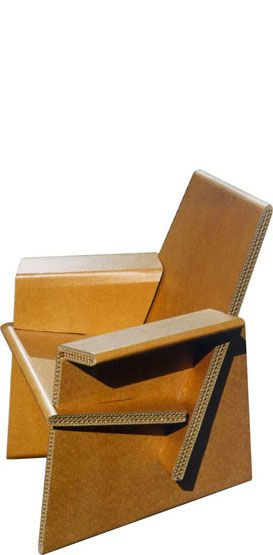 Corrugated arm chair - the things that you can create out of corrugated. Unbelievable.