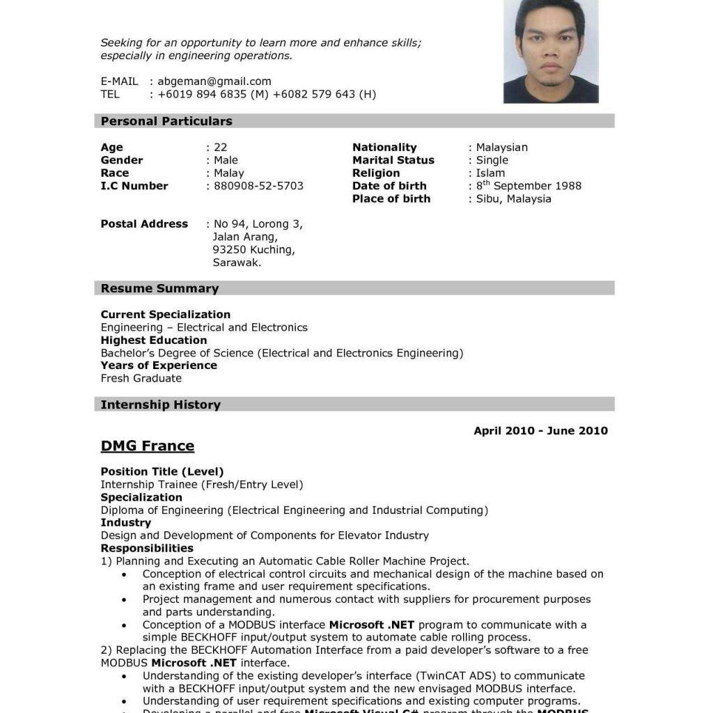 Pattern Of Resume Format Resume format, New resume