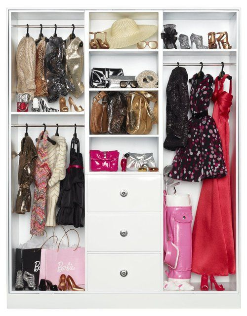 The Barbie Look Collection Wardrobe Storage Cabinet Black Label Barbie Wardrobe Barbie Barbie Collector