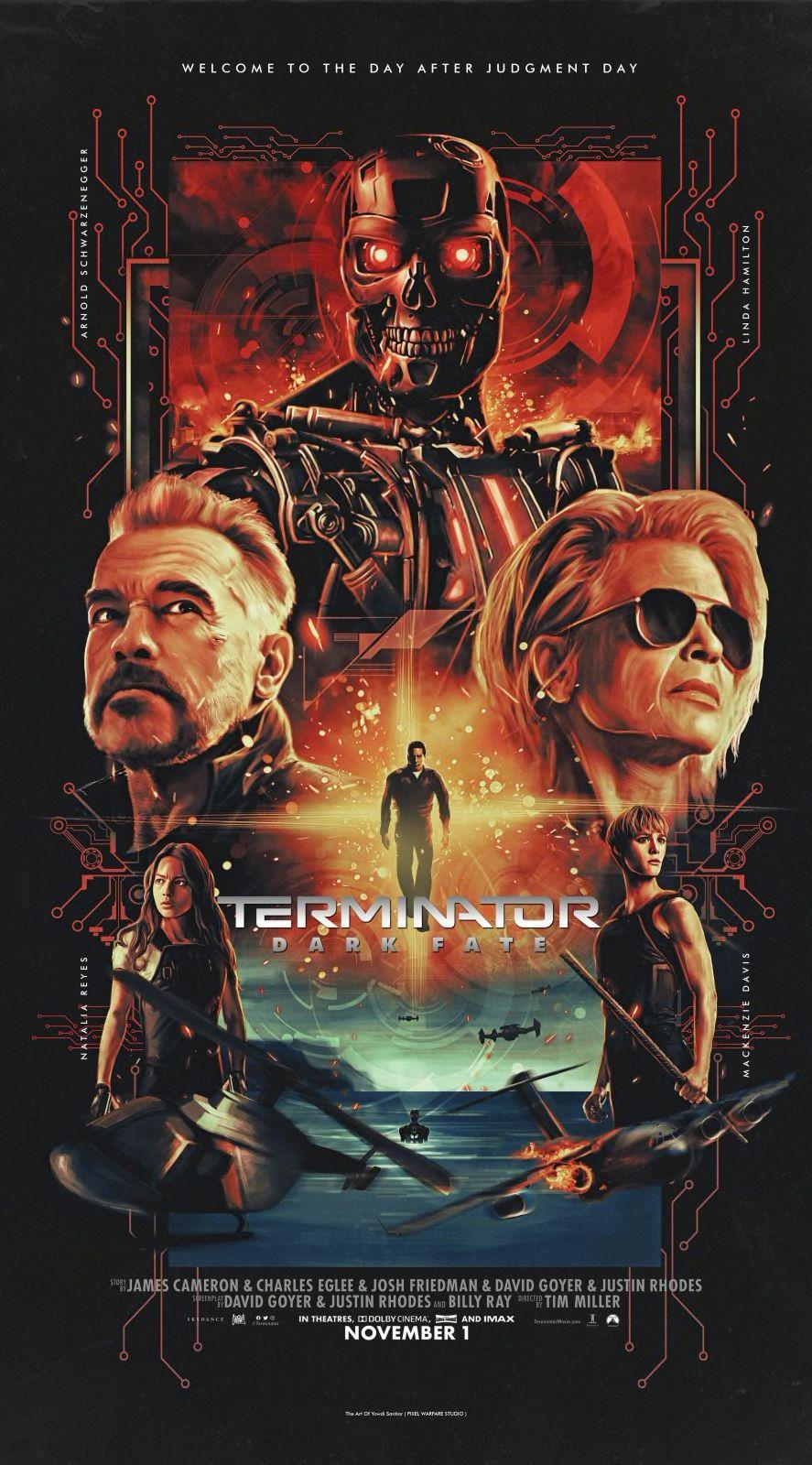Terminator Dark Fate poster by Yowdi Santiar | Terminator, New terminator  movie, Terminator movies