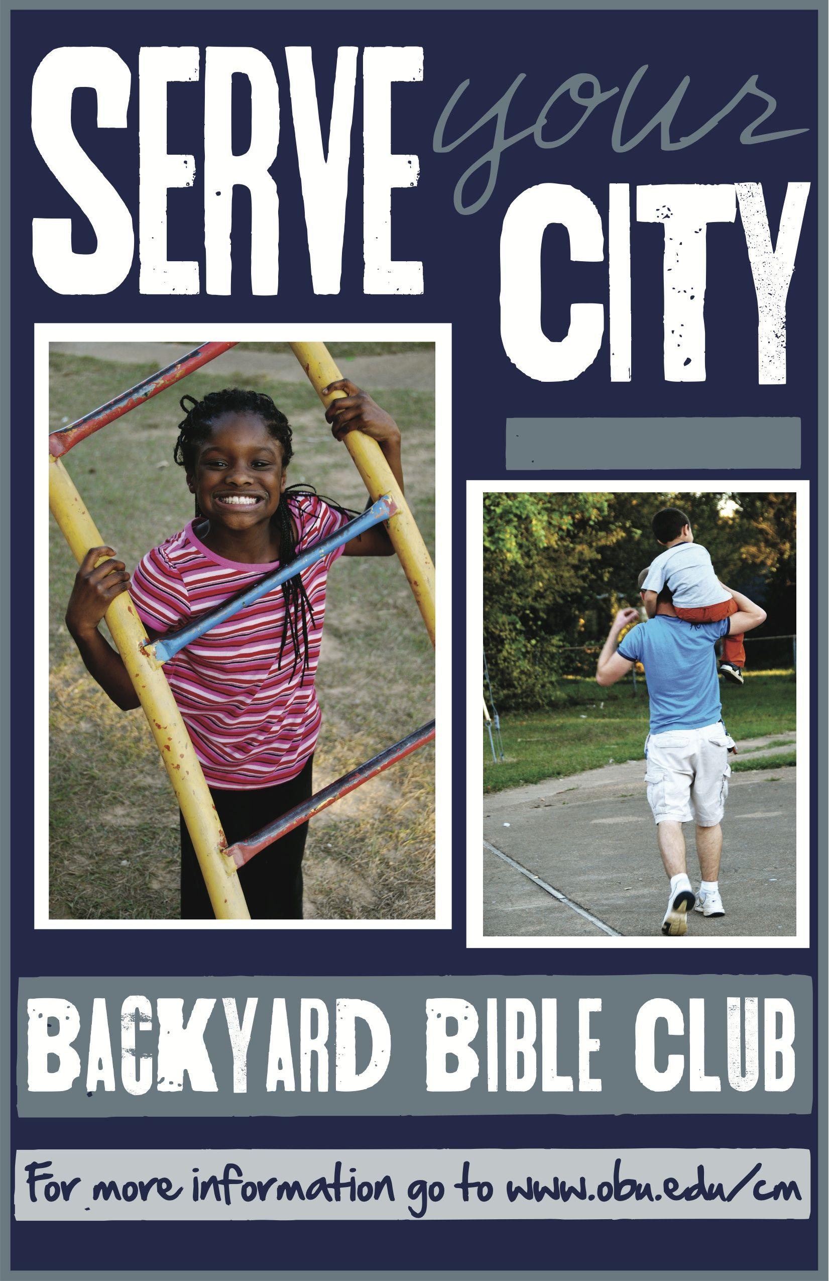 Created for OBU's Backyard Bible Club Outreach program ...