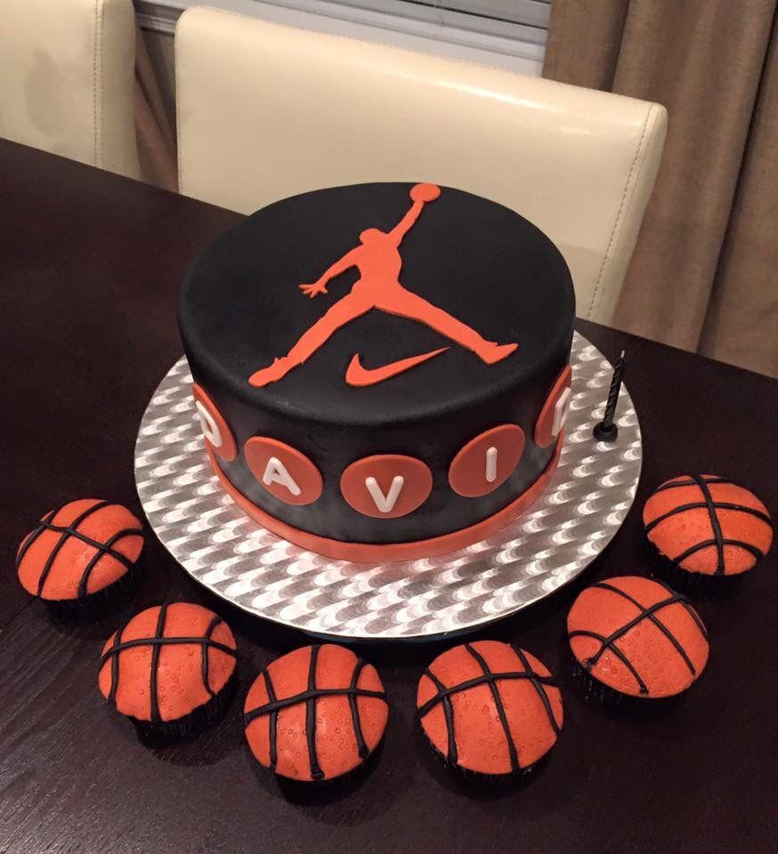 Pleasing Michael Jordan Birthday Cake Basketball Birthday Cake Michael Funny Birthday Cards Online Elaedamsfinfo