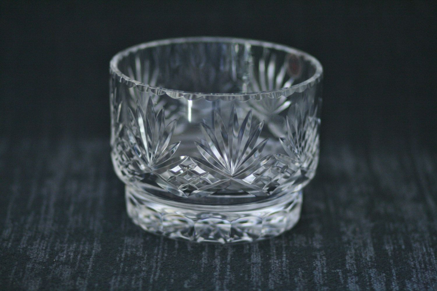 Clear Crystal Shot Glasses X 4 Rare And To Have A Long Life. Lower Price with Stunning Vintage Hofbauer Bohemian Ruby