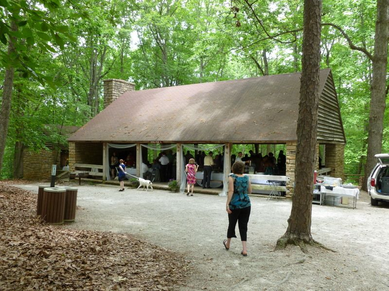 Exterior Of Picnic Shelter At The Reedy Creek Entrance Of Walter B. Umstead  State Park In Cary NC