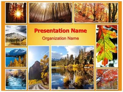 Autumn Season Collage Powerpoint Template is one of the best