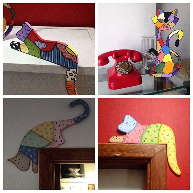 Os gatos estão soltos aqui no ArtTê!! Para os amantes desses felinos,  que tal um charme especial para aquele seu cantinho favorito?  #ArtTêDecorações #Arte #Gatos #Deforação #gatinhosdecorativos