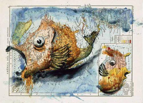 Fernando Vicente Atlas map paintings