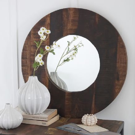 51 cm pallet idea recycled junk wood mirror - 30% off